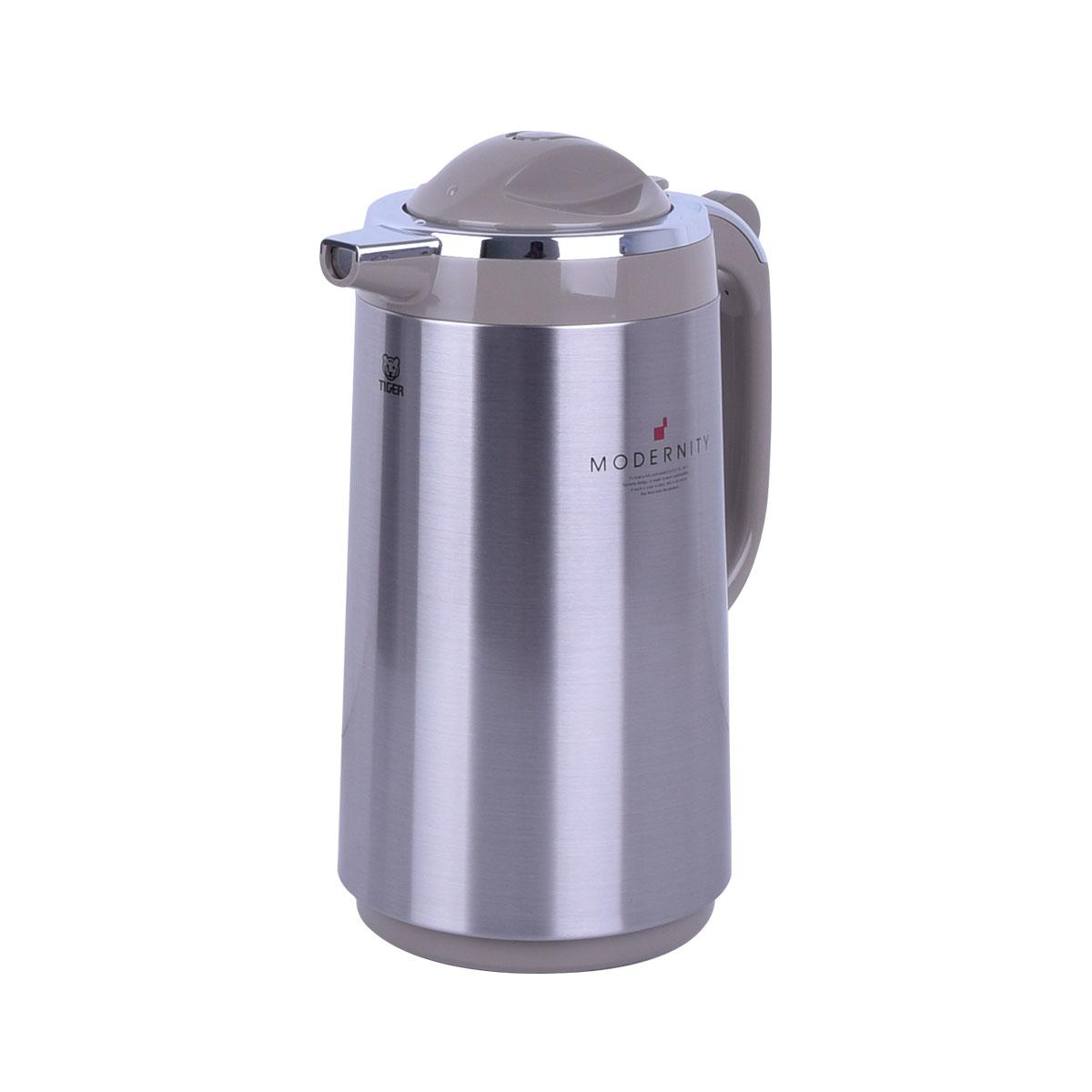 ترمس شاي وقهوه تايجر اليابانية - استانلس استيل - 1.34 لتر - PRT-S130