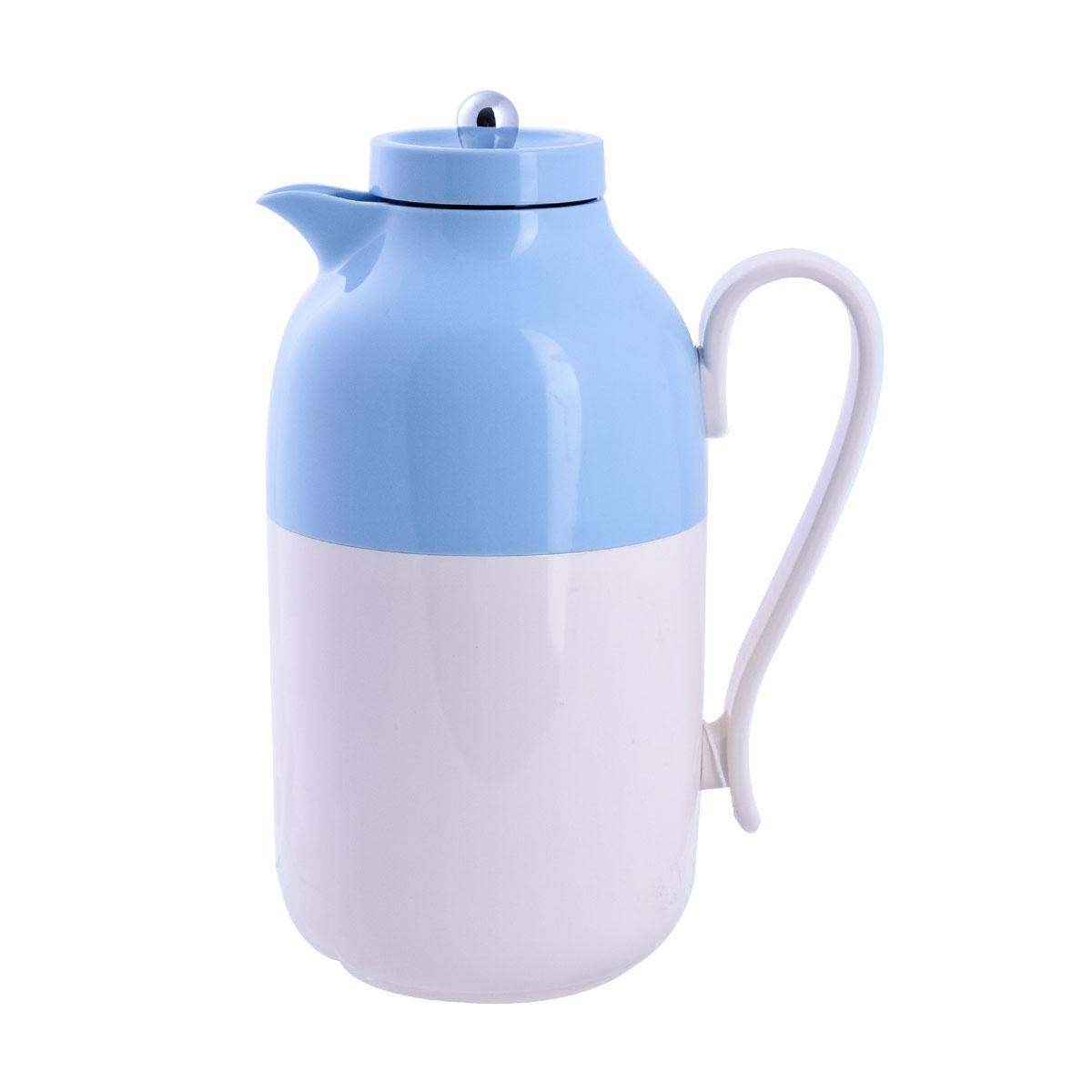 ترمس شاي وقهوة ديفا -DEVA- لؤلؤي مع سماوي - مقاس 1.0لتر - رقم  K190480/CLR3