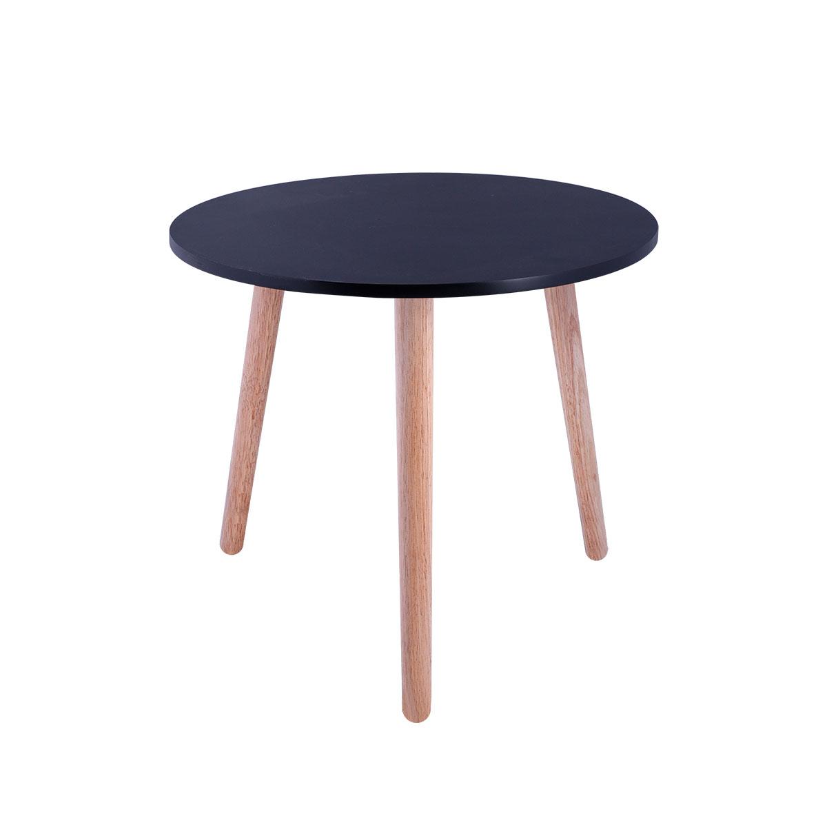 طاولة تقديم وخدمة خشب دائرية - 40 سم - لون اسود- من ماي مارت
