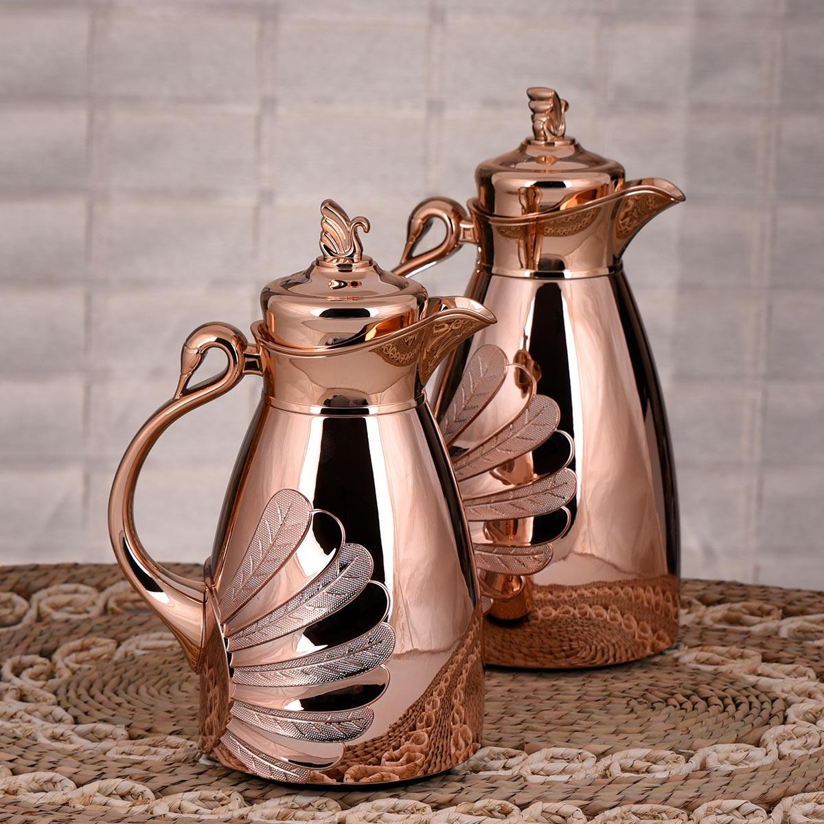 طقم ترامس , ترانيم , للشاي والقهوة , من السيف , مقاس 1 لتر + 0.70 لتر