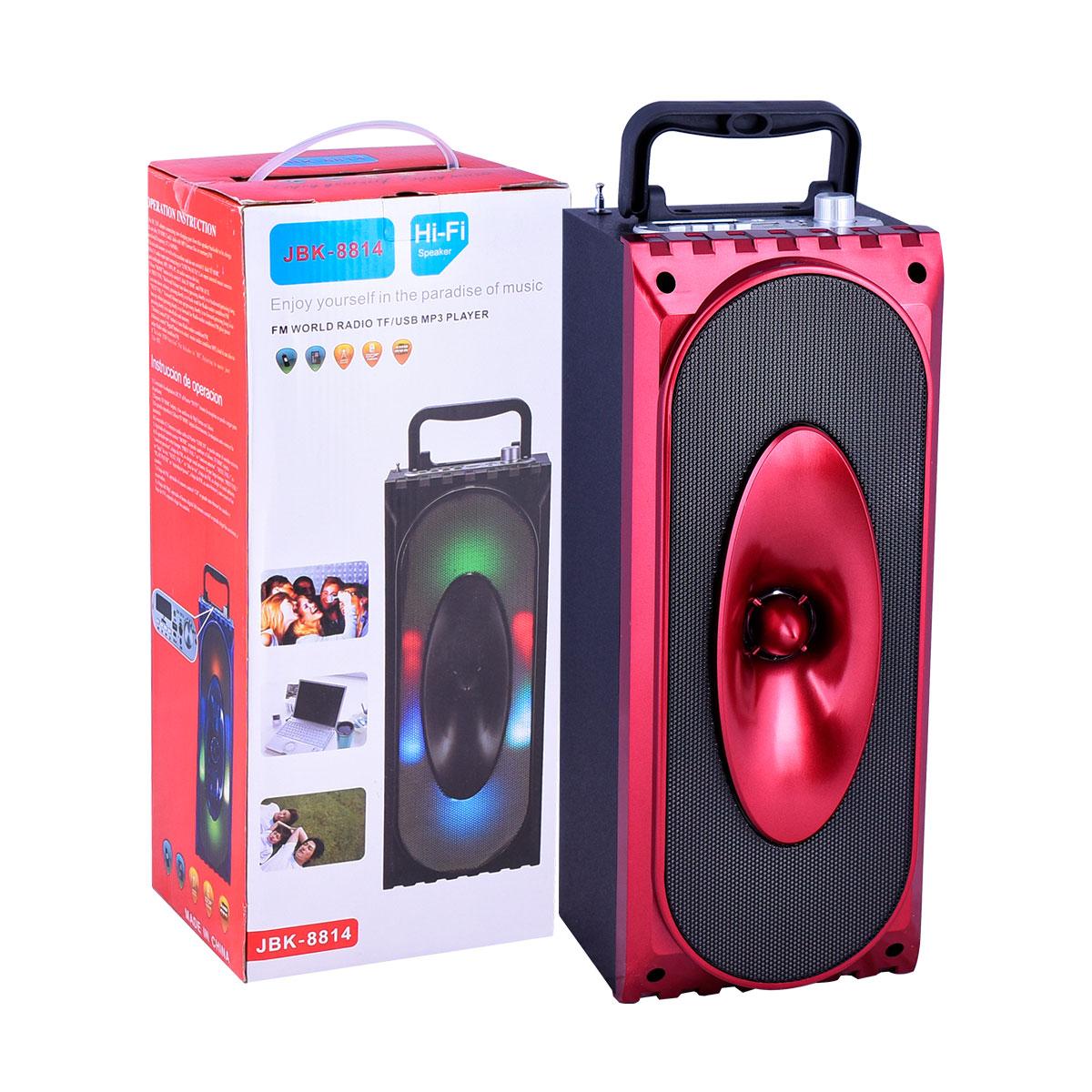 سماعه مكبر صوت مع اضاءة , رقم JBK- 8814 الوان متعددة