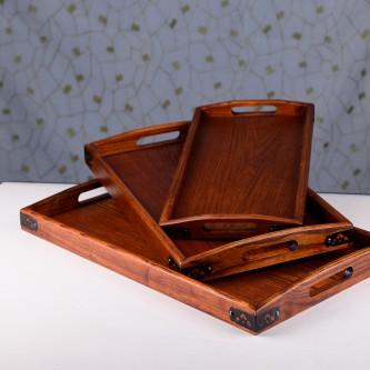 طقم طفرية تقديم خشب - 3 قطعه - رقم MY35010