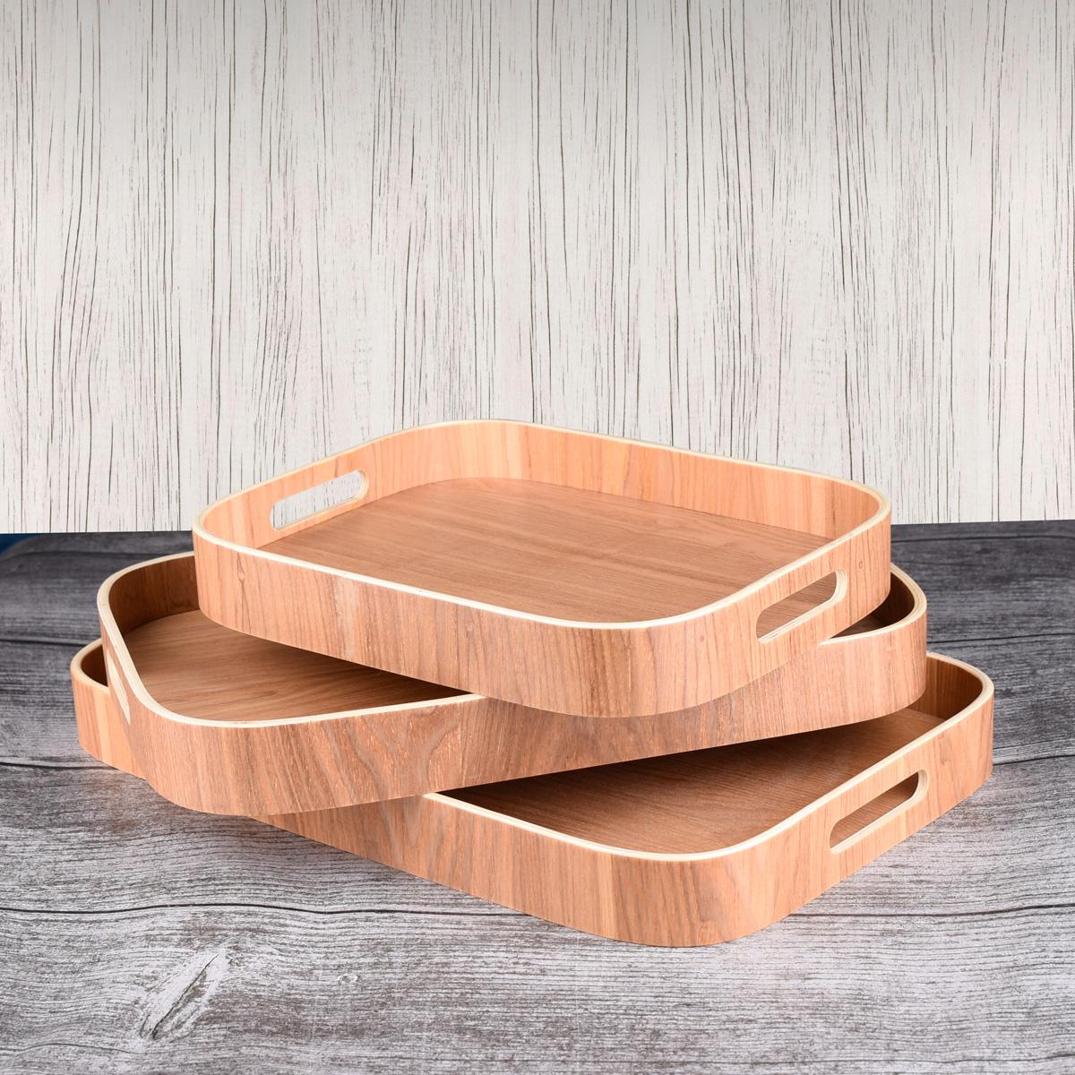 طقم طفرية تقديم خشب - 3 قطعه - رقم MY35009