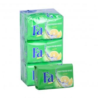 صابون مرطب من فا , ليمون  - 6 حبة - 75 جرام
