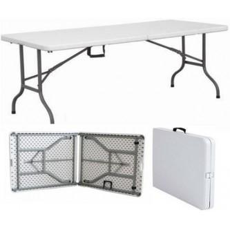طاولة بلاستيك فايبر مستطيل , قابلة للطي , لون ابيض , رقم MY-36003