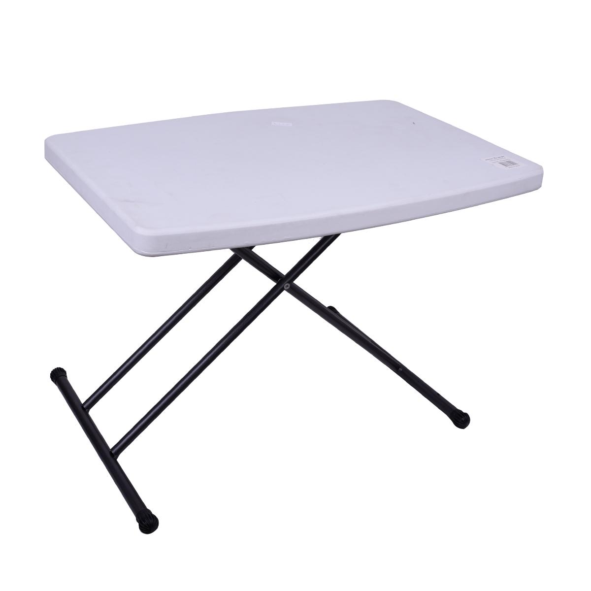 طاولة بلاستيك فايبر مستطيل , قابلة للطي , لون ابيض , رقم MY35029