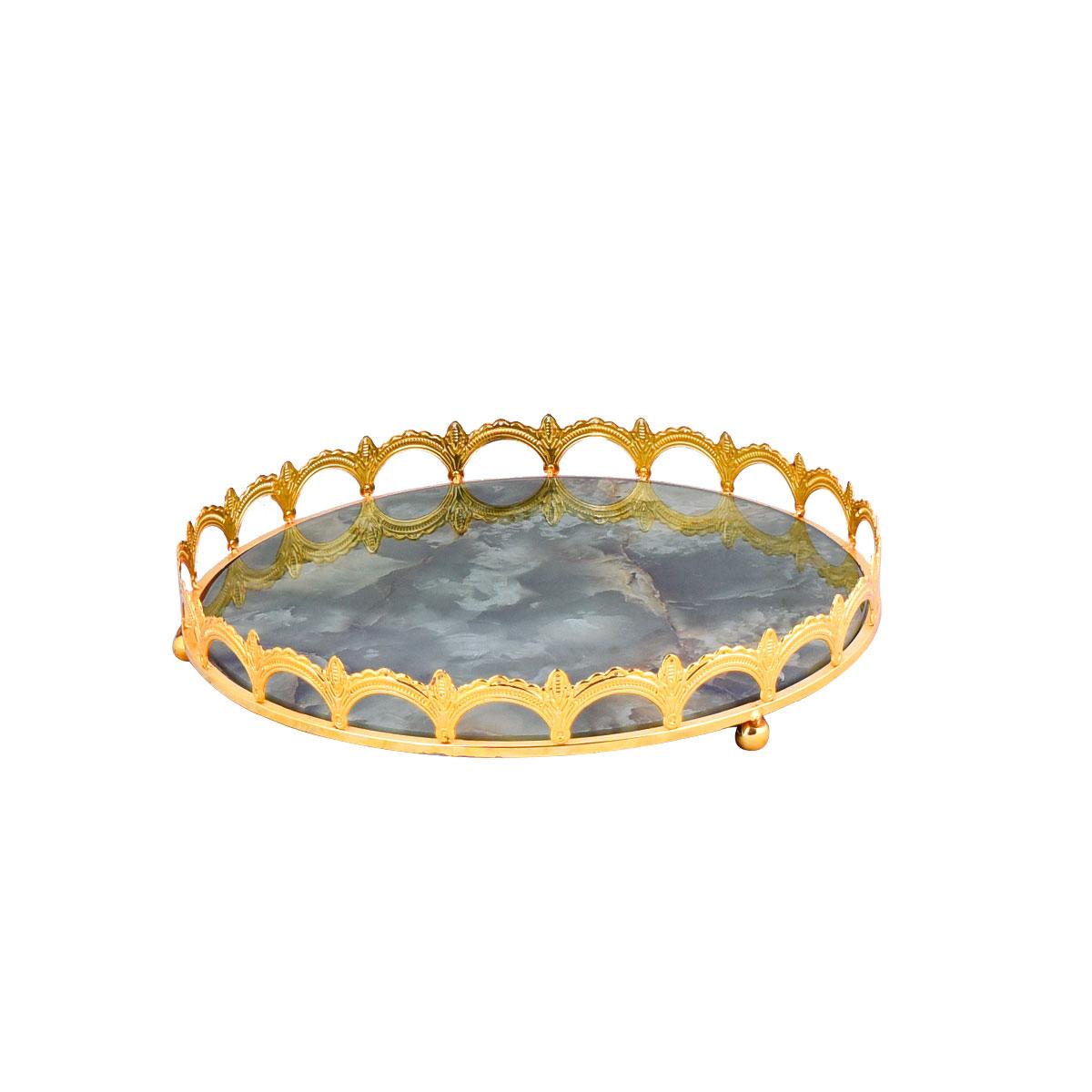 طفرية تقديم ذهبي رخامي , رقم YM-20764