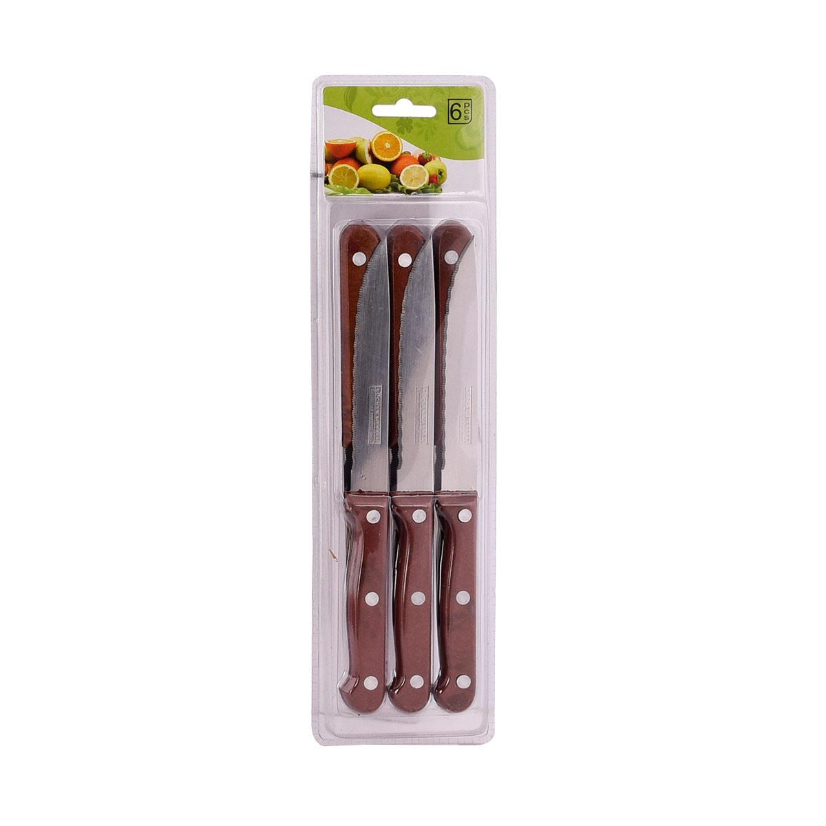 سكاكين للفواكه والخضروات طقم  6 قطعة متعدد الالوان