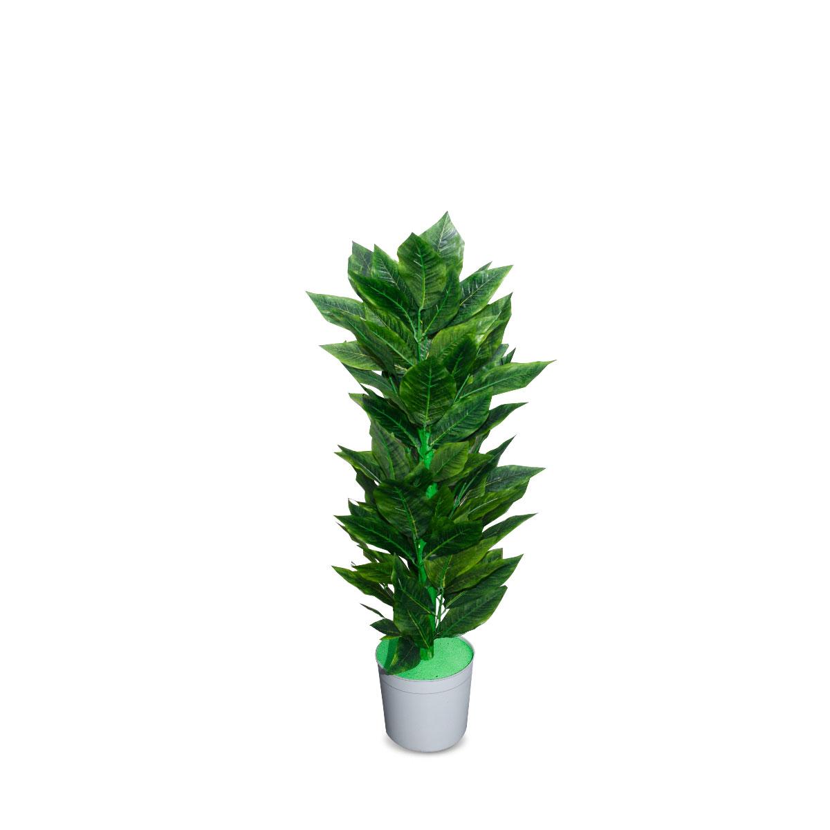 شجر زينة صناعي ,  لون اخضر حجم صغير (ارتفاع 90 سم )