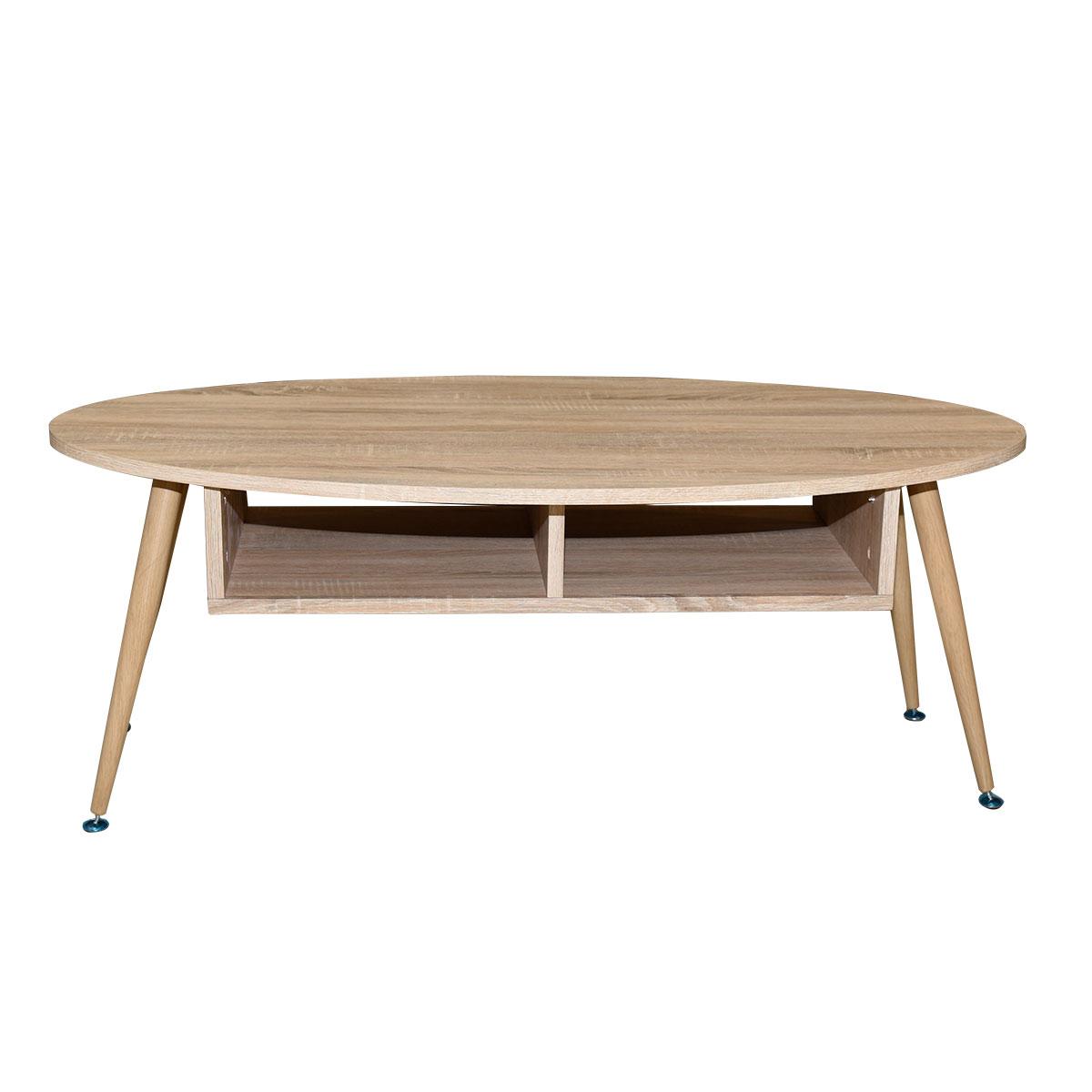 طاولة تقديم وخدمة خشب بيضاوي , لون بيج , موديل 620