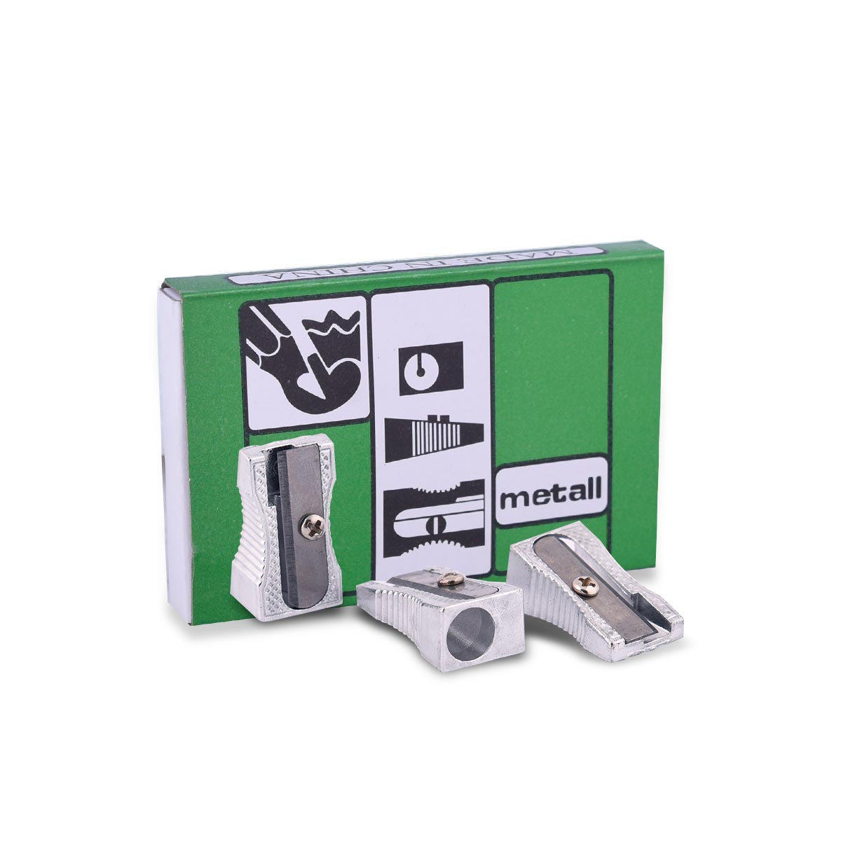 طقم براية اقلام رصاص واقلام تلوين فتحة واحدة , 24 براية , رقم YM-21289