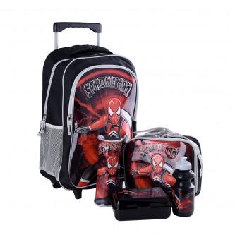 طقم حقيبة ظهر مدرسية بعجلات وملحقاتها 5*1 - رقم 4757-015