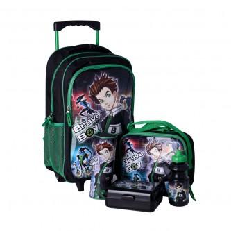طقم حقيبة ظهر مدرسية بعجلات وملحقاتها 5*1 - رقم  4757-014
