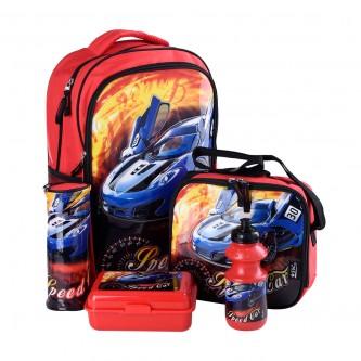 طقم حقيبة ظهر مدرسية وملحقاتها 5*1 - رقم  4758-012