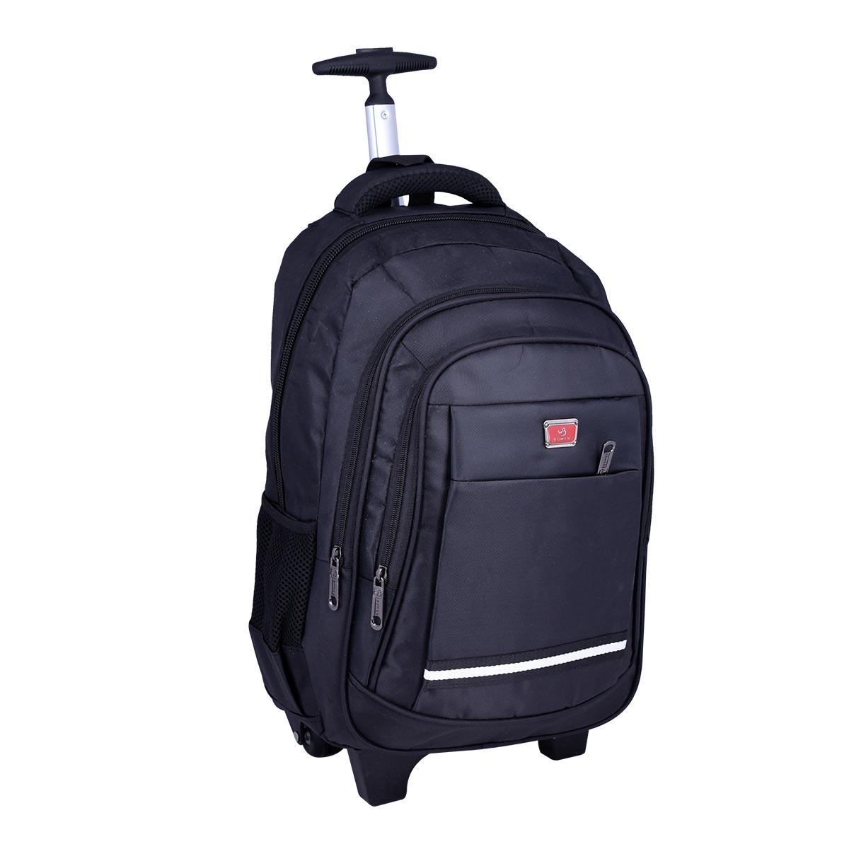 حقيبة ظهر مدرسية , بعجلات , الوان متعددة ,  موديل YM-21509