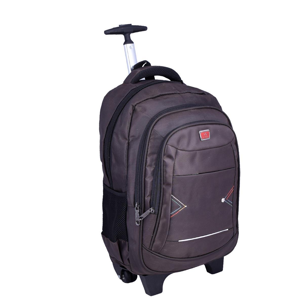 حقيبة ظهر مدرسية , بعجلات , الوان متعددة ,  موديل YM-21511