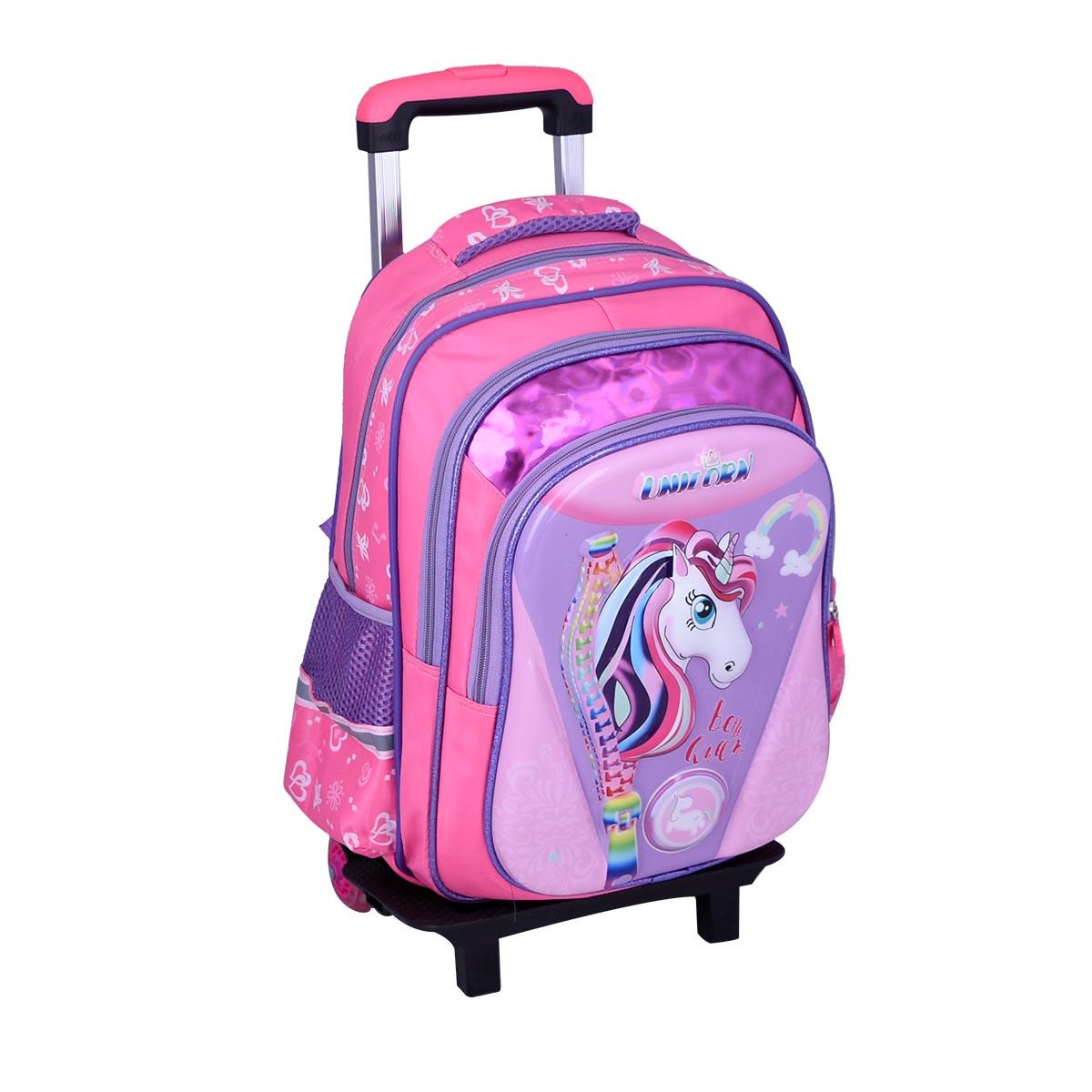 حقيبة ظهر مدرسية , بعجلات ,  موديل YM-21502
