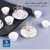 طقم فناجين قهوة وبيالات شاي مع الصحون - 36 قطعة لون ابيض