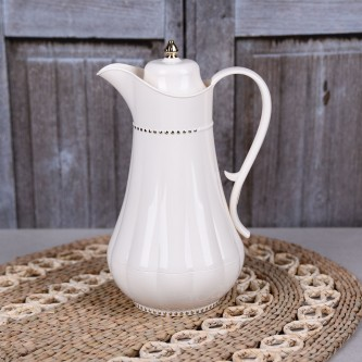 ترمس شاي وقهوة , فلورا , مقاس 1.0لتر , لون لؤلؤي