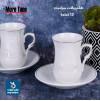 طقم بيالات شاي سيراميك مع الصحون 12 قطعة رقم MY35032