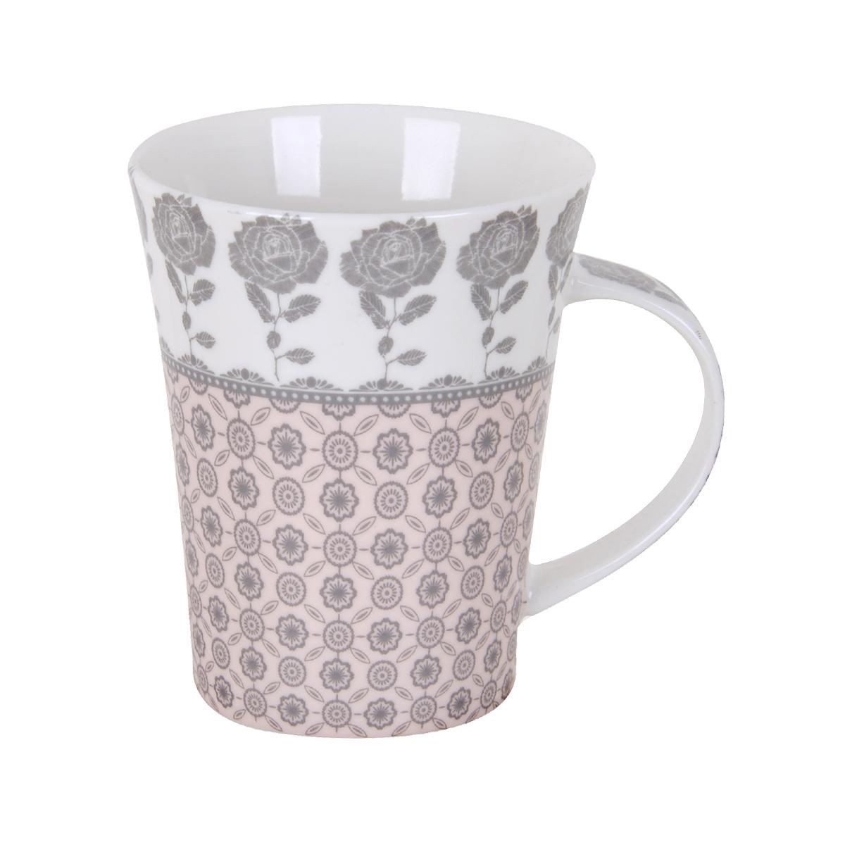 كوب سيراميك قهوة , شاي , حليب ,مزخرف بنقش الوان متعددة