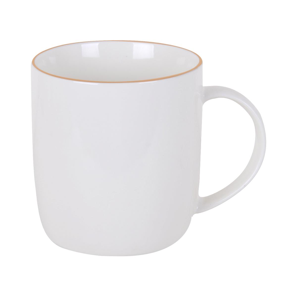 كوب سيراميك للقهوة , الشاي , الحليب ,لون ابيض ساده