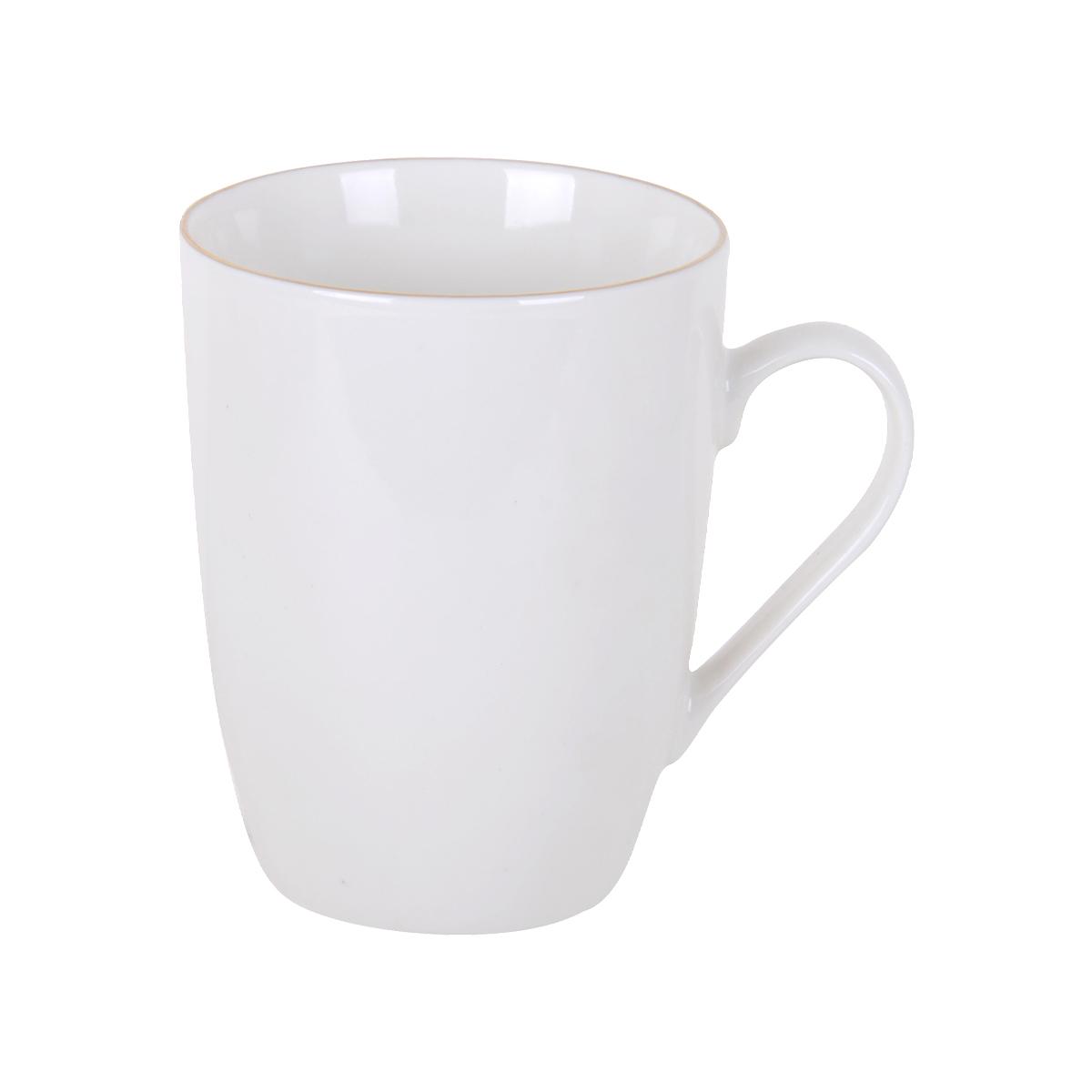 كوب سيراميك للقهوة , للشاي , للحليب ,لون ابيض
