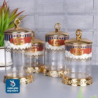 طقم علب بهارات وتوابل , 4 قطعة موديل 410019