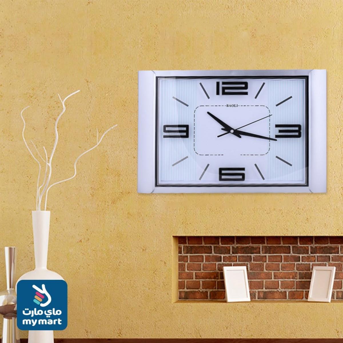 ساعة حائط  شكل مستطيل رقم 994512