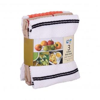 مناشف مطبخ طقم 3حبة متعدد الالوان موديل NKL013