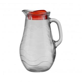 جيك زجاج للمشروبات1لترغطاء احمر