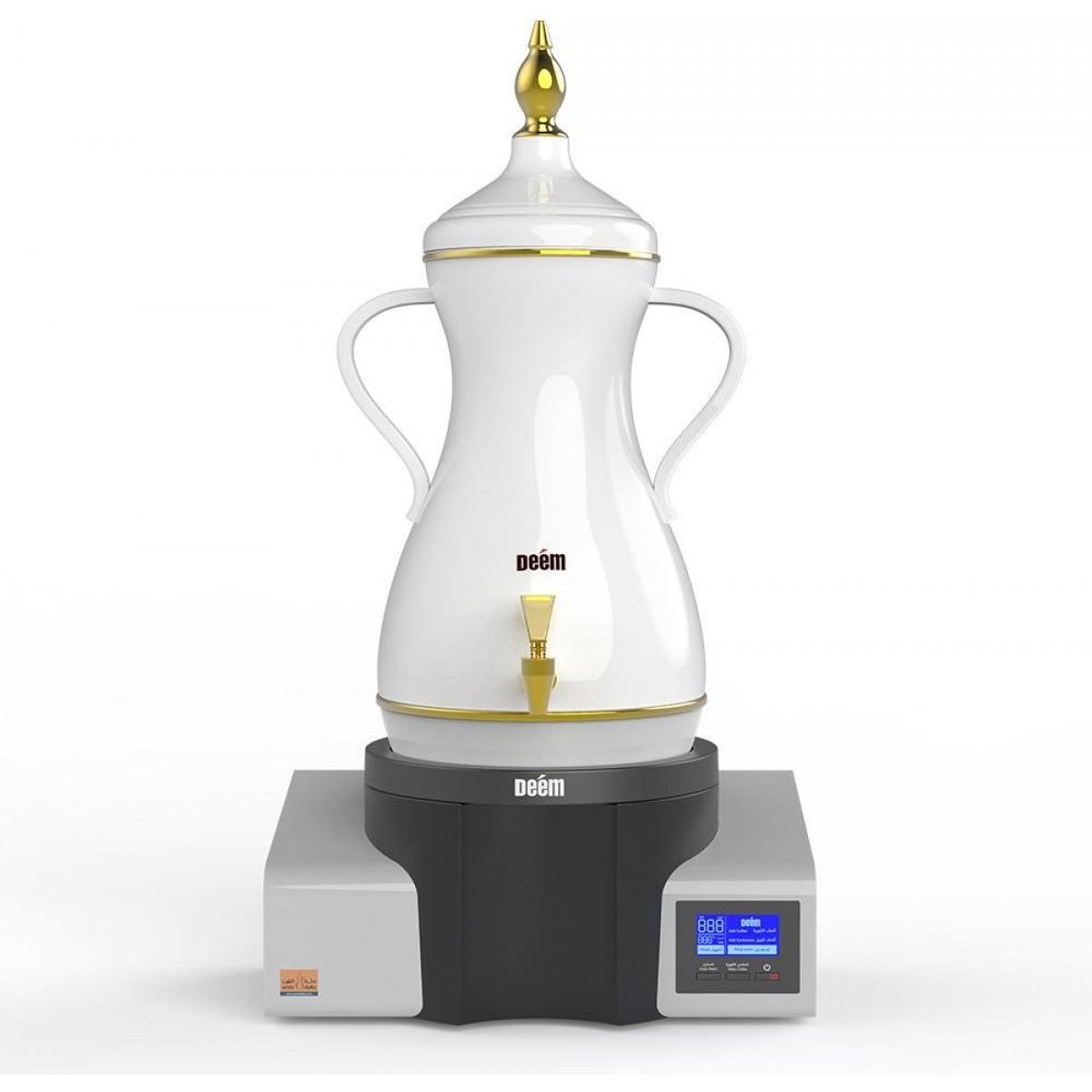دلة الضيوف, من ديم , صانعة القهوة العربية، 7 لتر، أبيض / رمادي