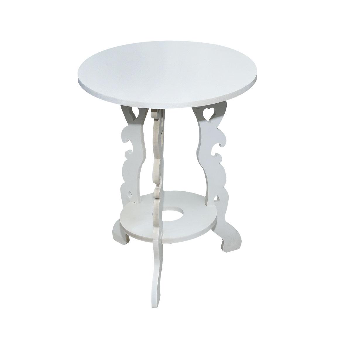طاولة تقديم وخدمة خشب دائرية -مويل  - YM-15023