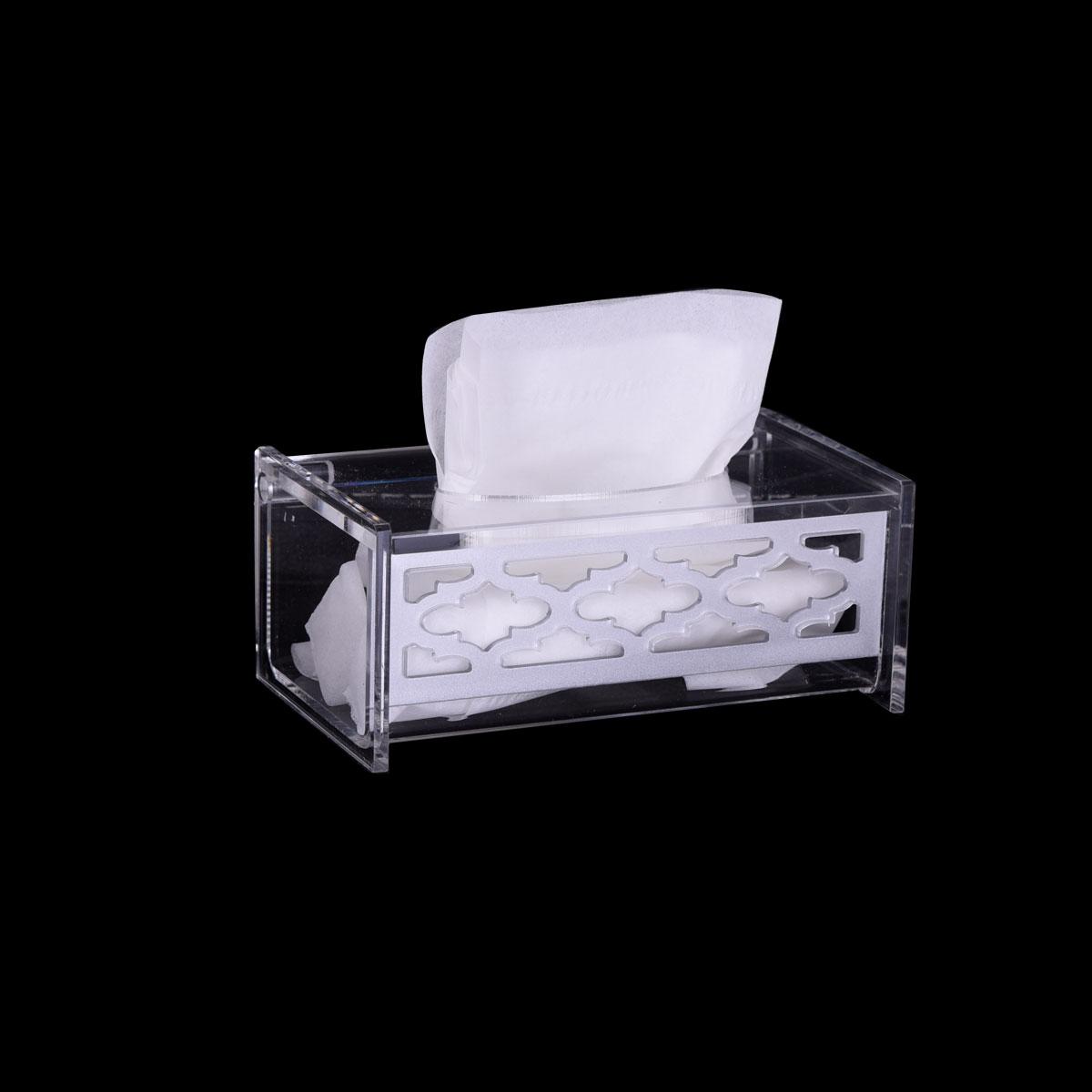 علبة مناديل شفاف اكريليك - موديل -997831