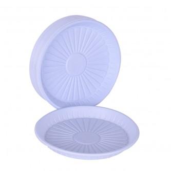 صحون بلاستيك الوطنية دائري  - رقم 22 مقوى  - 50 حبة