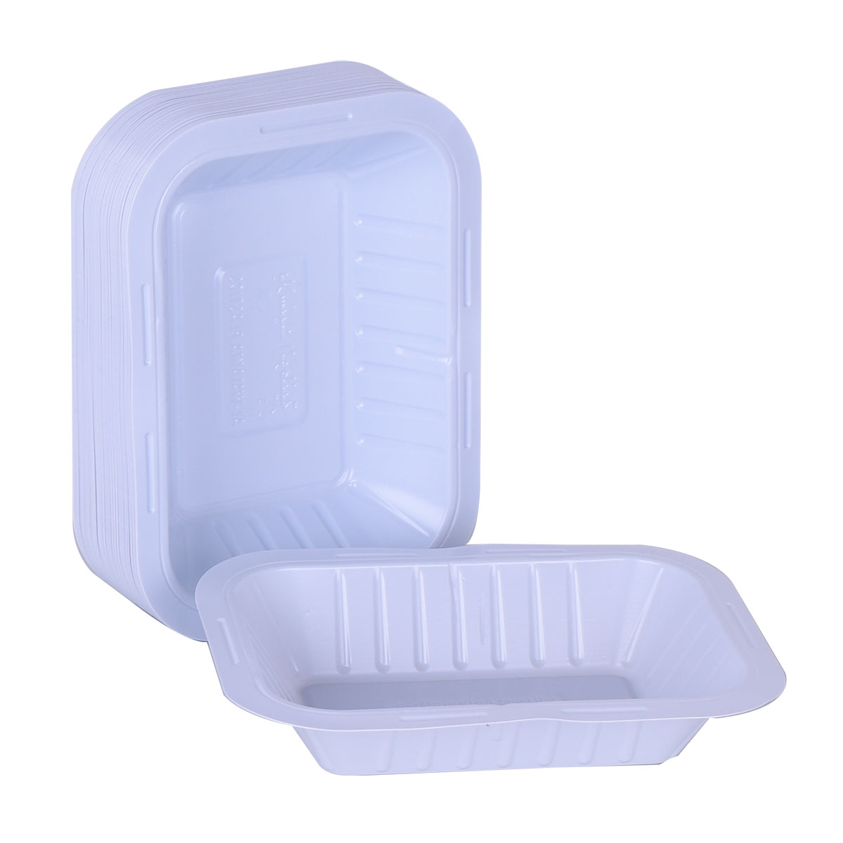 صحون بلاستيك الوطنية مستطيل - رقم 1 - 50 حبة