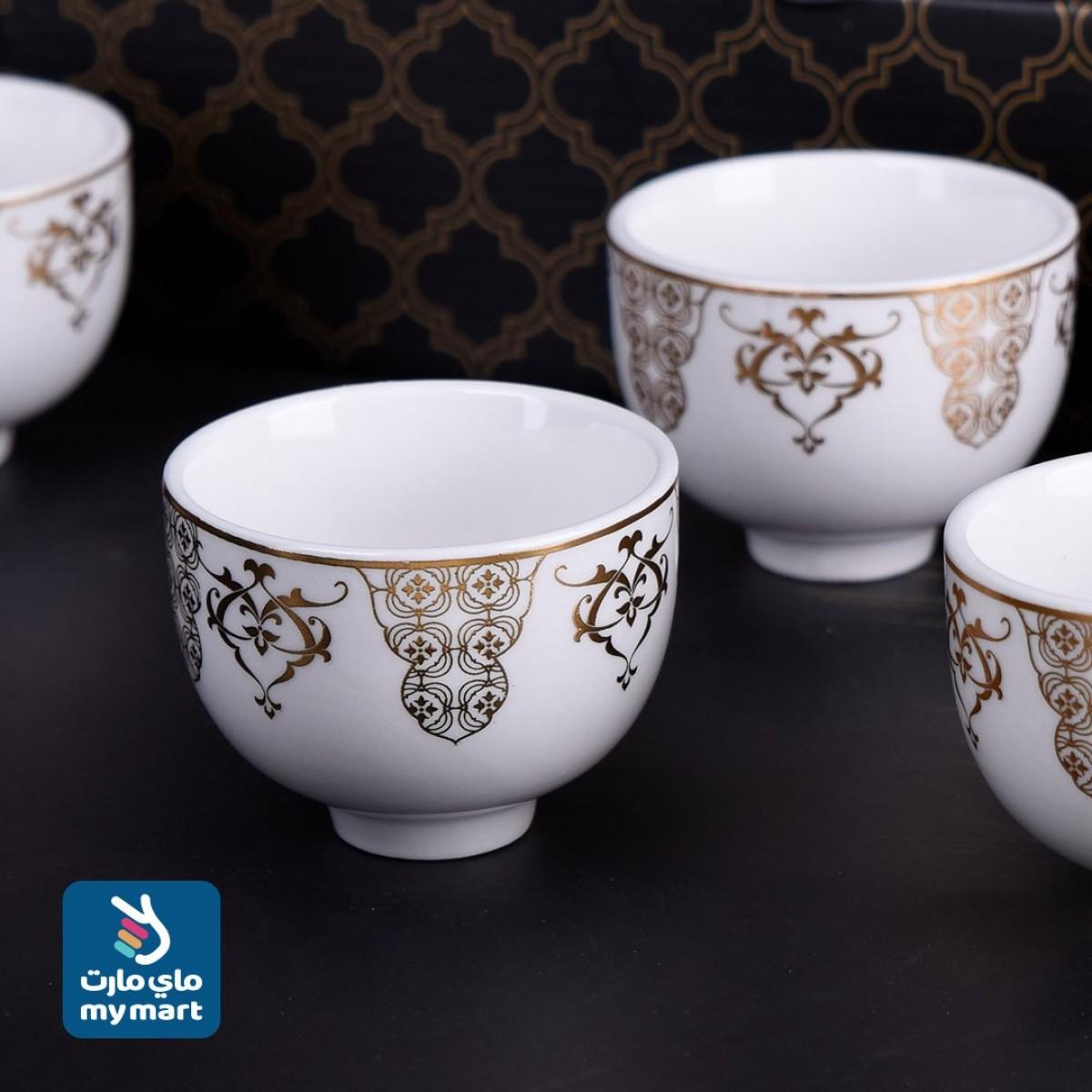 طقم فناجين قهوة عربي 6 فنجان , رقم 124363