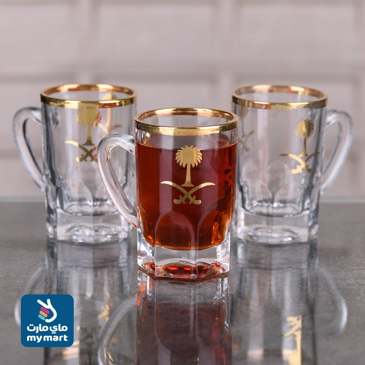 طقم  بيالة شاي,6 قطعة,سيفين ونخلة,HM-6002