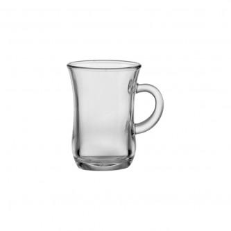 طقم بيالة شاي 6 قطعة زجاج رقم 402