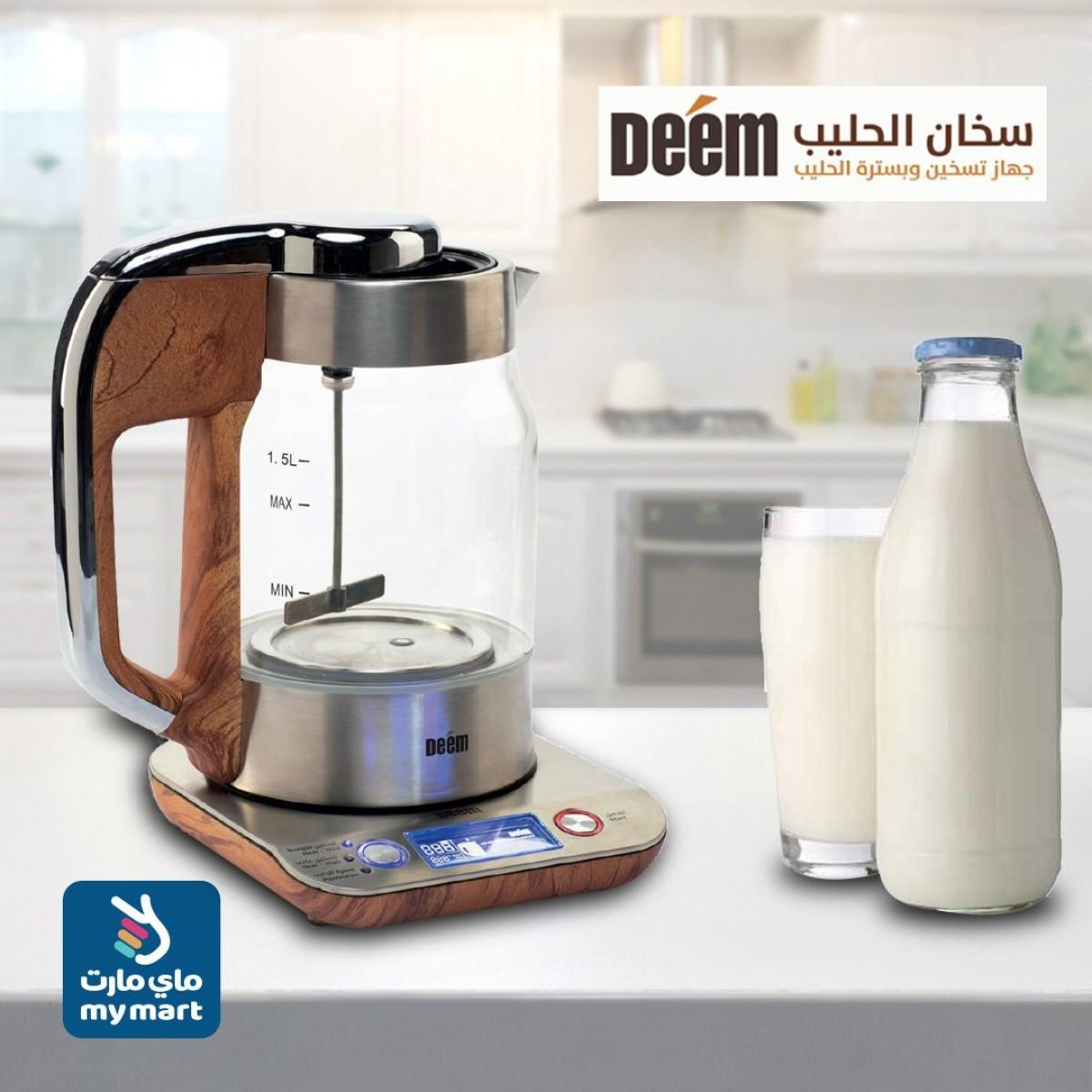 جهاز تسخين وبسترة الحليب دييم،  1.5 لتر AD-15MB01