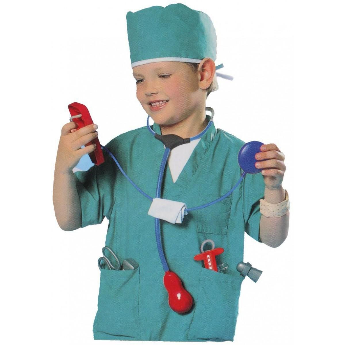 ملابس مهن زي الطبيب جراح مع علبه DON-0969L