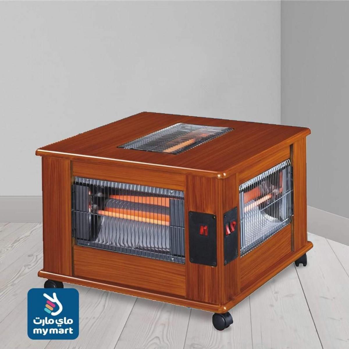 دفاية كهرباية من 5 جوانب خشبيه كلاسيكية هوم ماستر