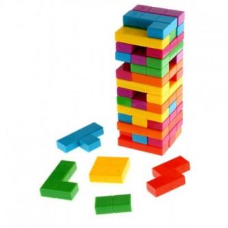 جينغا لعبة تركيب  - 54 قطعه خشبي  رقم TF3310C-2