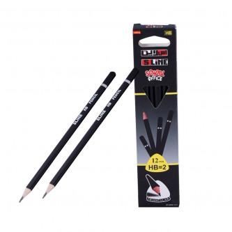 اقلام رصاص اس لاين  2-HB مع ممحاة  - 12 قلم  - رقم YM-17263