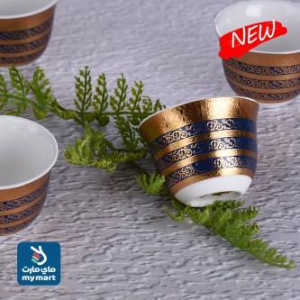 طقم فناجين قهوة عربي  12 فنجان سراميك رقم YS-1794-9