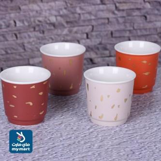 كوب سيراميك قهوة , شاي , حليب ,مزخرف