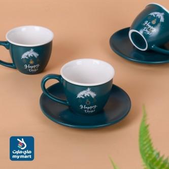 طقم  اكواب قهوة عربي  مع الصحون , 12 قطعة KRS96515