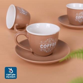 طقم  اكواب قهوة عربي  مع الصحون , 12 قطعة KRS96517
