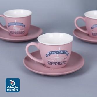 طقم  اكواب قهوة عربي  مع الصحون , 12 قطعة KRS96516