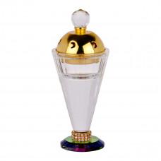 مبخرة كريستال شفاف مع غطاء ذهبي او فضي وقاعدة ملونة من ماي مارت